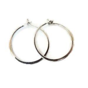 🖤firm🖤Small Sterling Silver Huggie Hoop Earrings